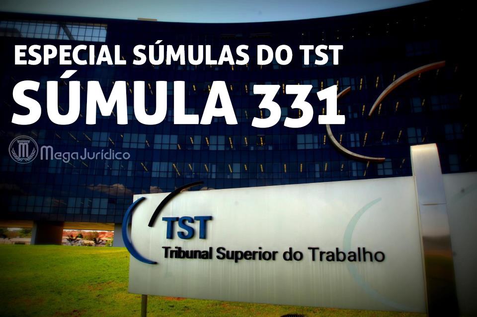especial sumula 331 TST