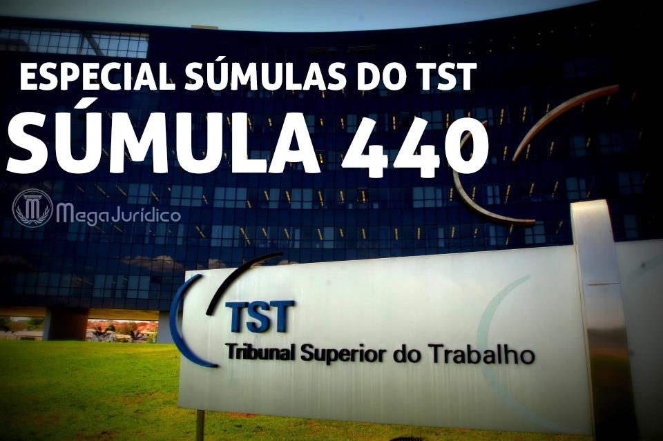 especial sumula 440 TST